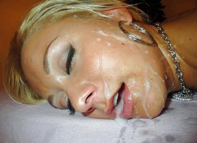 фото рта женщин в сперме